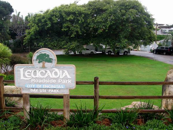 The small, green Leucadia Roadside Park.