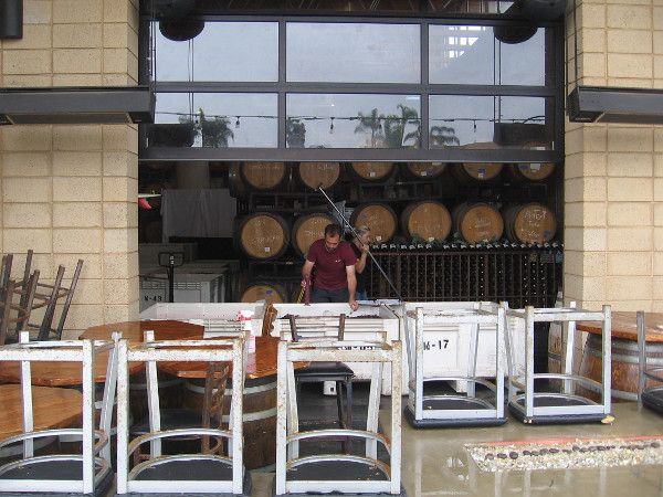Getting ready for another day at Solterra Winery and Kitchen.