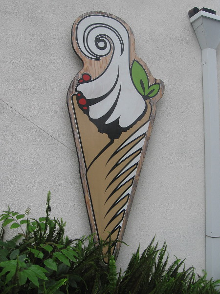 Fanciful design on a wall.