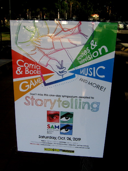 Storytelling Across Media is coming up at the Comic-Con Museum. Sign up for the panels before they are full!