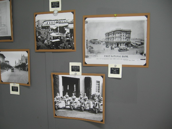 Many cool historical photos of San Diego cover the walls!