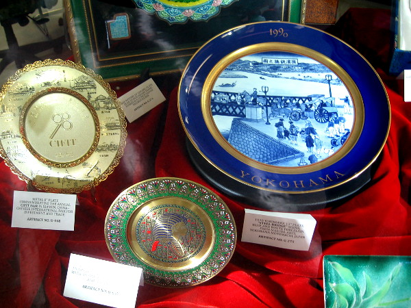 Mayoral artifacts displayed at the San Diego City Clerk's Archives Center include many gifts from around the world.