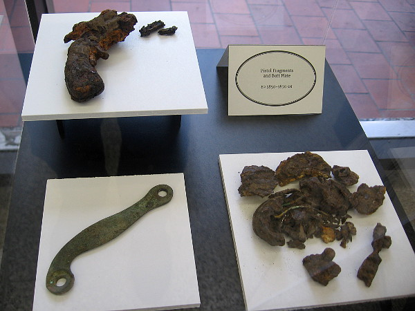 New Town artifacts include pistol fragments, 1850-1870.