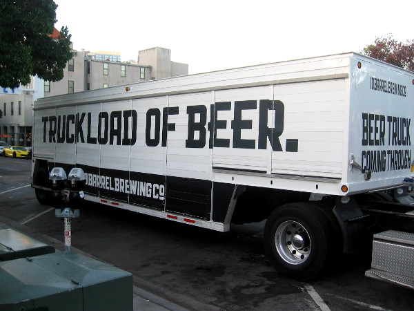TRUCKLOAD OF BEER.