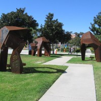 Public art at Liberty Station invites interaction.