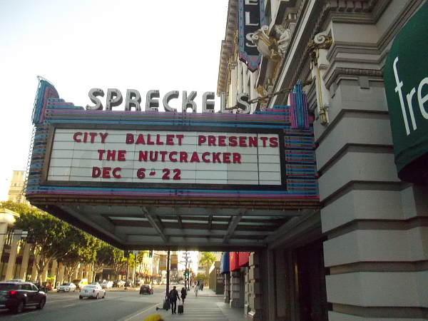 The City Ballet will perform The Nutcracker at the Spreckels Theatre.