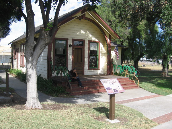 This small building was the very first library in Escondido.