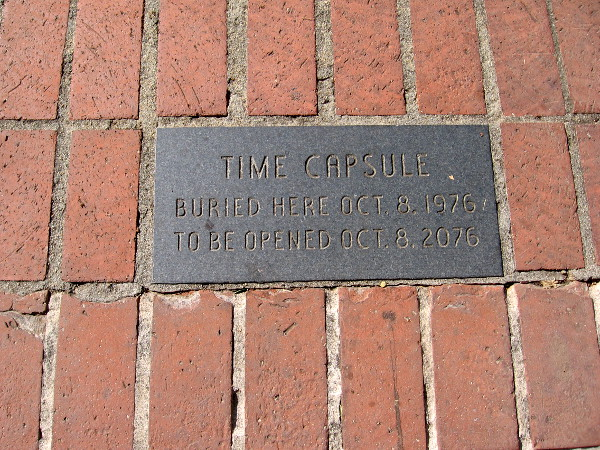 A time capsule buried under the Heritage Walk is to be opened in 2076.