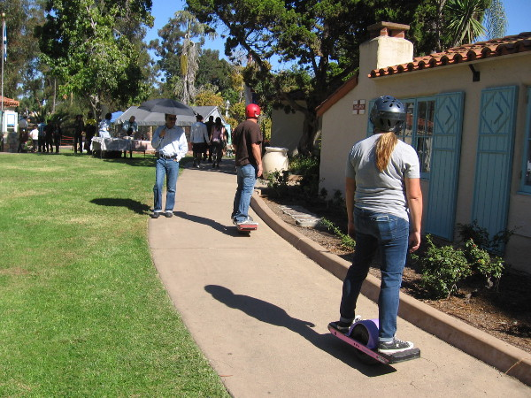 Walking and rolling through the House of Pacific Relations International Cottages.