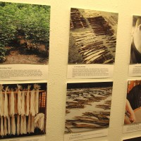 Amazing exhibition of Japanese washi fiber art.