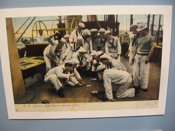 U. S. Sailors Life 'Sport aboard Ship.'