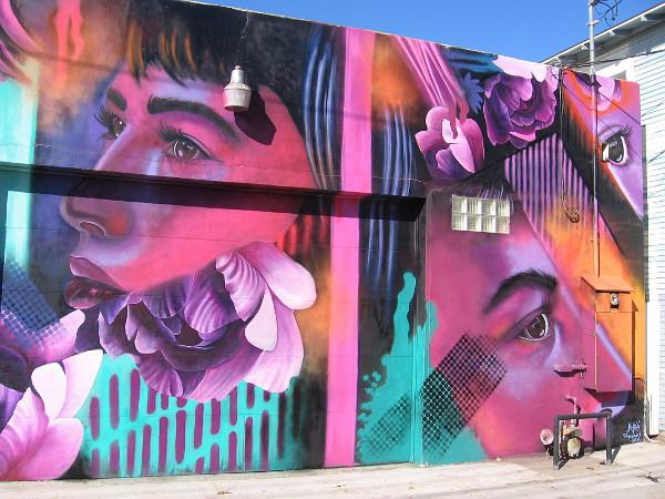 North Park alley mural by @kyraaart.