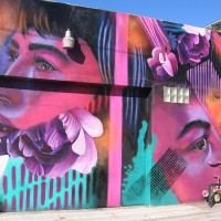 Three cool murals in a North Park alley!