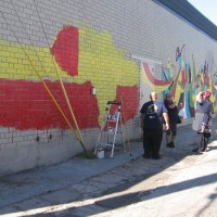 Painting cool new murals in City Heights!