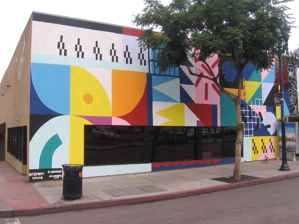 A very colorful mural in San Diego's East Village by @TierneyMilne of @ladieswhopaint.