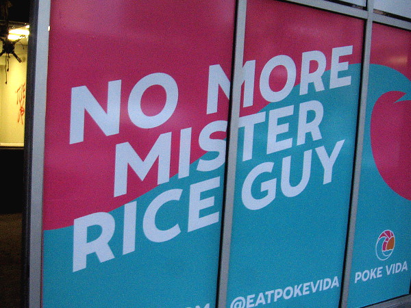 No more Mister Rice guy.