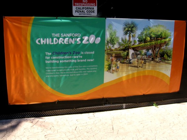 The world-famous San Diego Zoo's new Sanford Children's Zoo is now under construction. It's due to open in 2021.