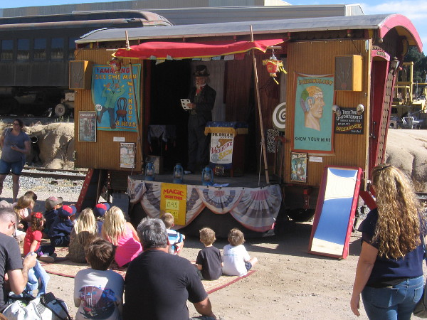 Dr. Solar was entertaining kids with his magical Good-Time, Sunshine, Traveling Medicine Show.