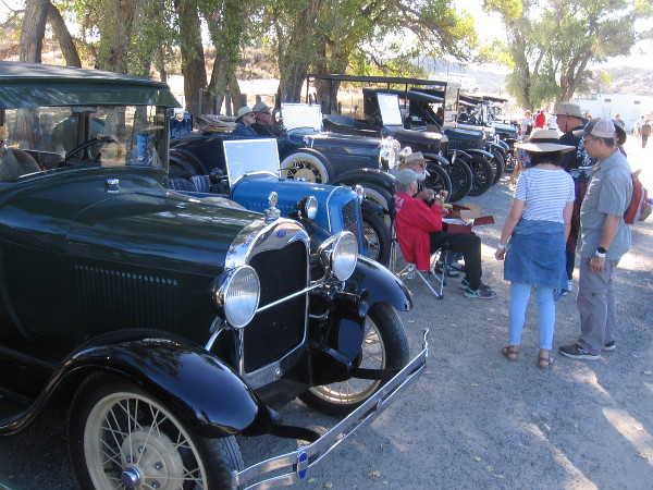 Vintage auto enthusiasts brought their Model A and Model T Fords and Horseless Carriages.