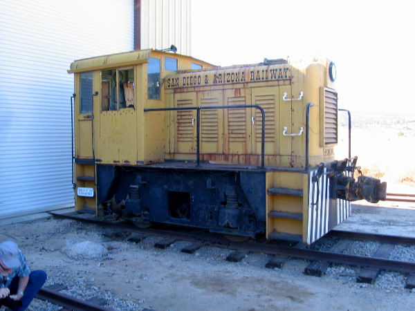 A little switch engine of the San Diego and Arizona Railway.