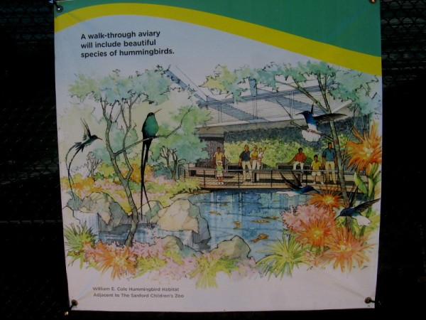 A new walk-through aviary will include beautiful hummingbirds!