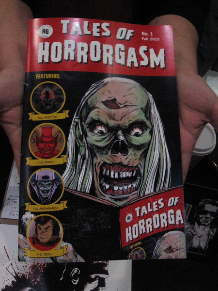 They have a cool comic book. Tales of Horrorgasm!