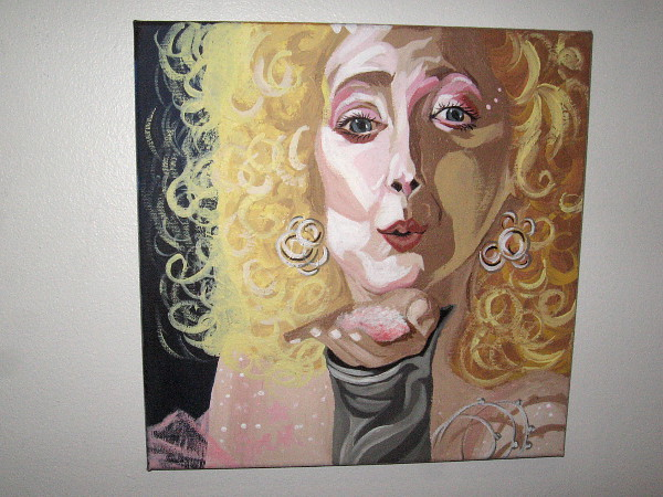 One half of The Ballbreaker Suite, by artist Autumn Sno, inspired by the movie Scrooged. Pictured is Carol Kane's the Ghost of Christmas Present.