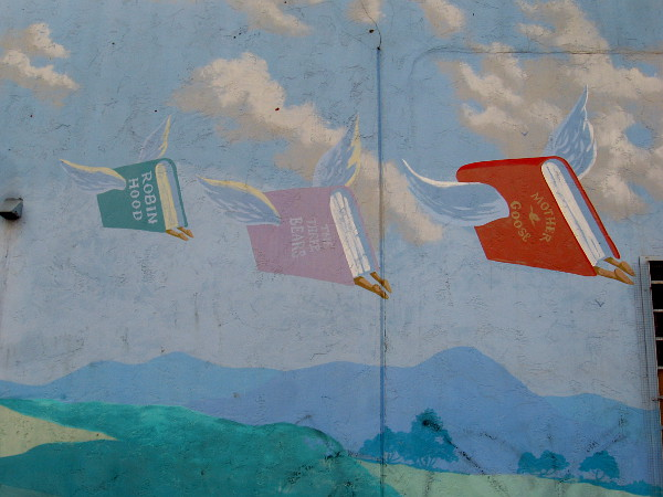 Flights of imagination. Books take wing.
