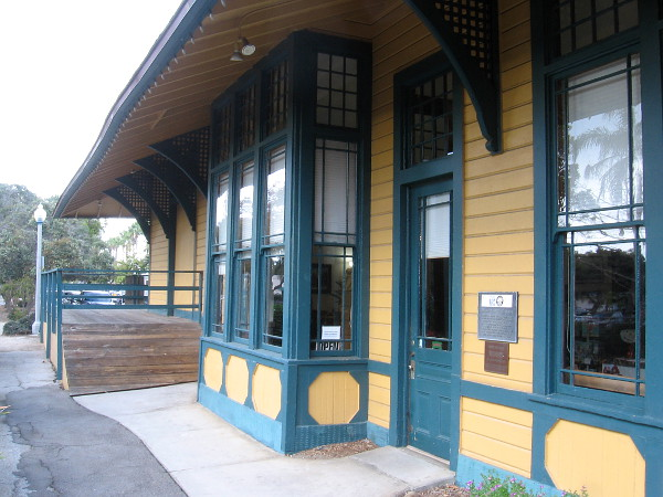 The restored Santa Fe Depot is now the home of Carlsbad's Convention and Visitors Bureau, where tourists can obtain local information.