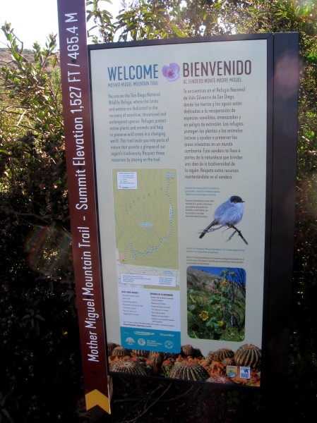 Sign describes this part of San Diego National Wildlife Refuge and protecting natural biodiversity.