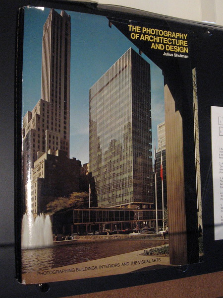 Cover of The Photography of Architecture and Design, by Julius Shulman.