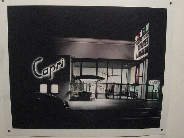Capri Theater, 1954, Digital reproduction of photograph by Julius Shulman. Architecture by Frank Guys. The building, at Park Boulevard and Essex Street, was demolished in 2003.