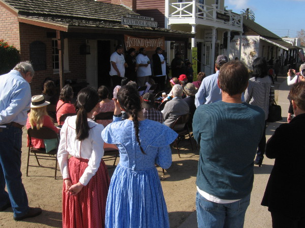 A crowd observes Antonio Garra Day at Old Town San Diego State Historic Park.