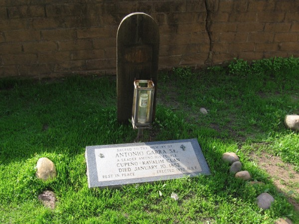 The grave of Antonio Garra in Old Town San Diego's El Campo Santo cemetery.