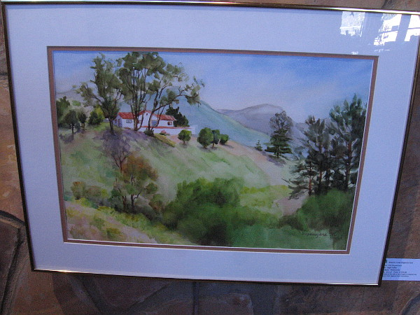 High Valley, watercolor by artist Pat Dispenziere.