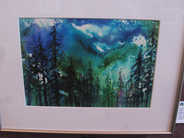 In the Forest Deep, watercolor by artist Jami Wright.