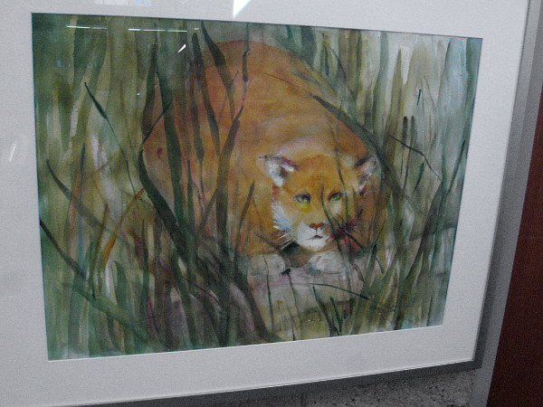Seldom Seen, watercolor by artist Elaine Harvey.