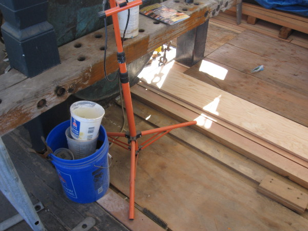 In this photo you can see how some of the layered decking work is done.