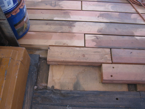 Another photo of the redecking in progress.