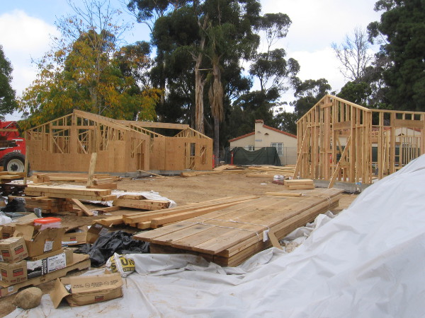 New structures are finally rising on the southwest end of the House of Pacific Relations International Cottages.