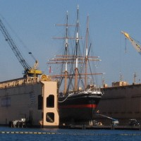 Cool photos of Star of India in dry dock!