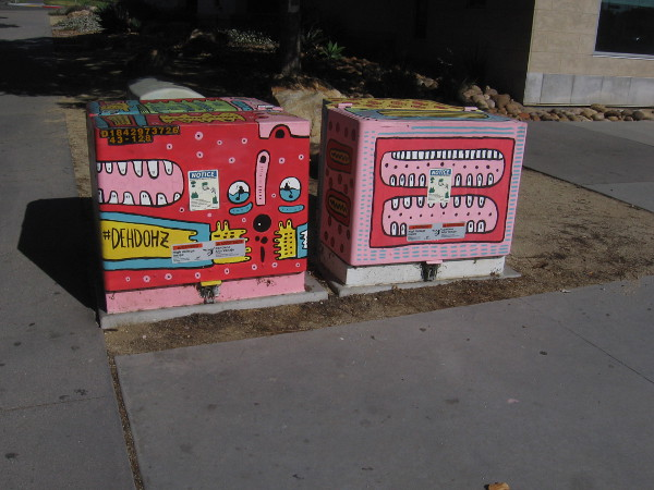 Street art near the library.