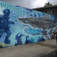 A cool mural walk in Pacific Beach!