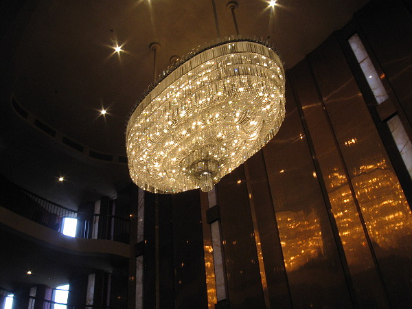 The amazing chandelier is the centerpiece of the Grand Salon.