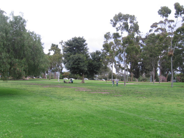 Balboa Park's West Mesa was much less active than usual for a Saturday around noontime.