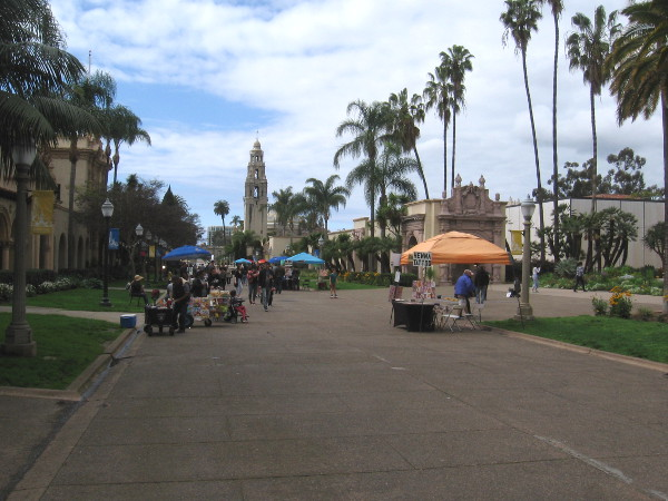 Balboa Park was much quieter than usual for a Saturday, but some folks were still out and about enjoying the day.