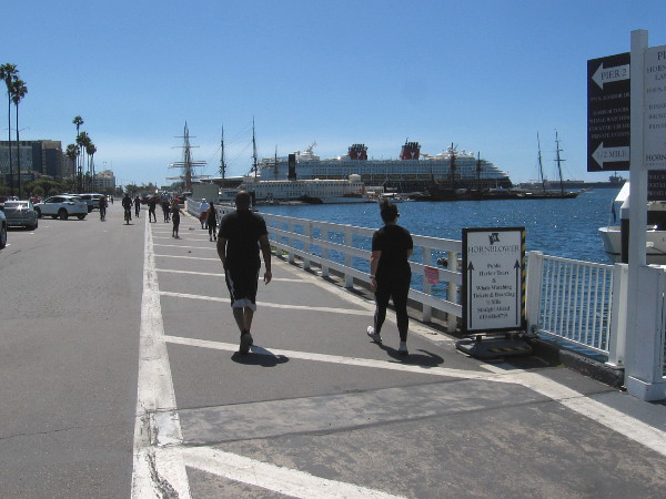 I was surprised by the number of walkers and joggers out by the water. Most were a fair distance apart.