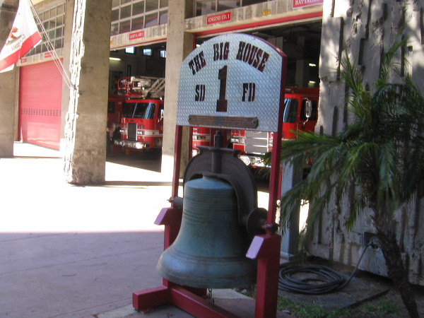 San Diego Fire-Rescue Department Fire Station 1--The Big House--was very quiet when I walked by. That's a good thing!