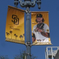 Padres banners for a season in doubt.