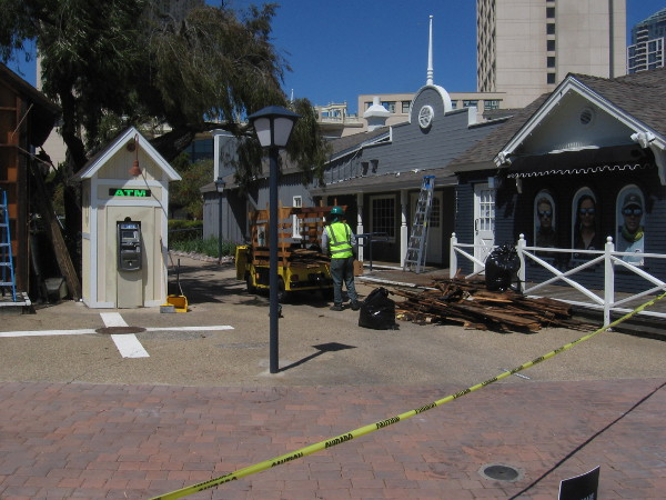 Renovation work is underway at Seaport Village.